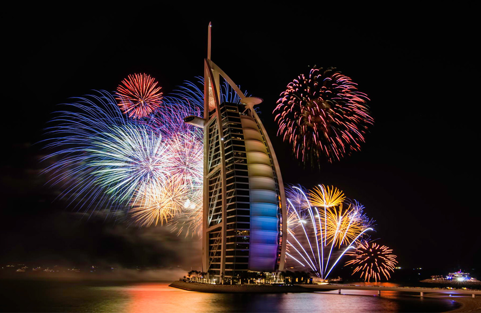 Feux d'artifice Dubai