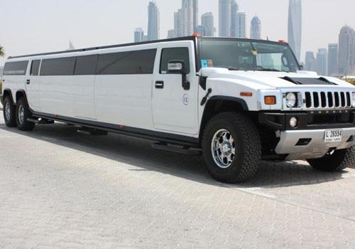 LIMOUSINE HUMMER BLANC DESTINATION DUBAI VIP