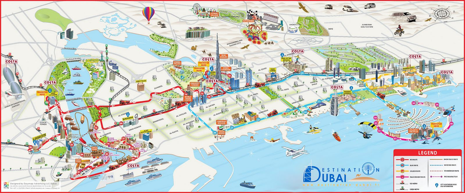 Carte interactive Dubai