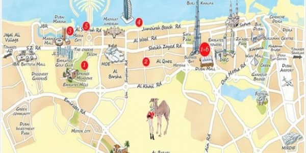Dubai cartes et plans